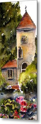 Clock Tower England Metal Print by Marti Green