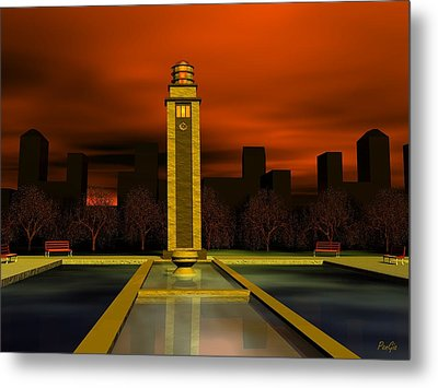 Clock Tower Metal Print