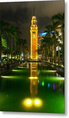 Clock Tower Of Old Kowloon Station Metal Print by Hisao Mogi