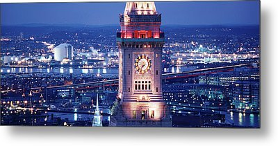 Clock Tower Of The Custom House Metal Print by Panoramic Images
