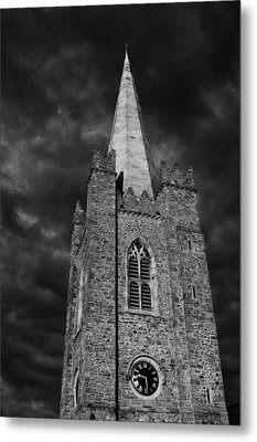 Clock Tower - St. Patrick's Cathedral - Dublin Metal Print