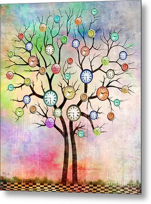 Clock Tree  Metal Print by Mark Ashkenazi