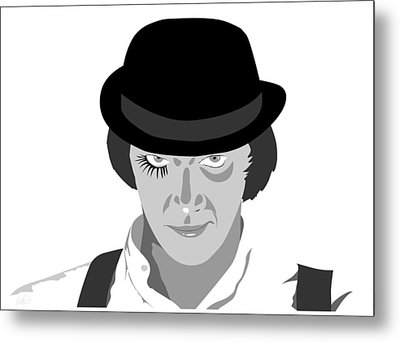 Clock Work Orange Malcolm Mcdowell Metal Print by Paul Dunkel