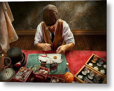 Clockmaker - A Demonstration In Horology Metal Print by Mike Savad