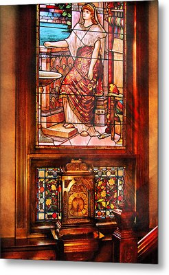 Clockmaker - An Ornate Clock Metal Print by Mike Savad