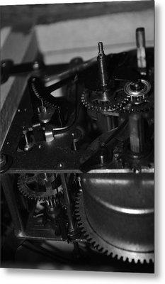 Clocks Black And White Metal Print