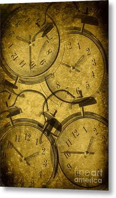 Clocks Metal Print by Amanda Elwell