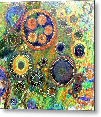 Clockwork Garden Metal Print