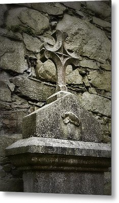 Cloister Cross At Jerpoint Abbey Metal Print