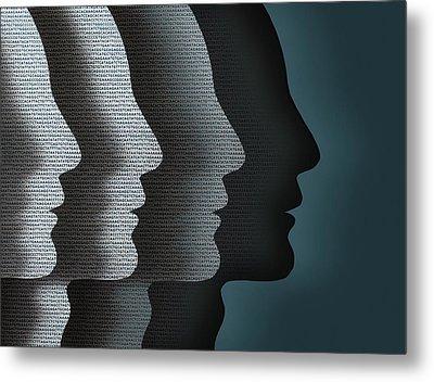 Cloned Faces Metal Print by Robert Brook