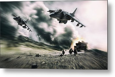 Close Air Support Metal Print by Peter Chilelli