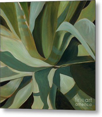 Metal Print featuring the painting Close Cactus by Debbie Hart