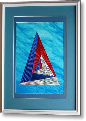 Metal Print featuring the mixed media Close Encounter by Ron Davidson