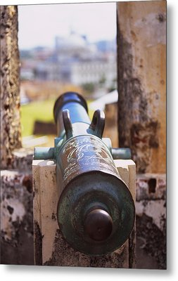 Close-up Of A Cannon At A Castle Metal Print by Panoramic Images