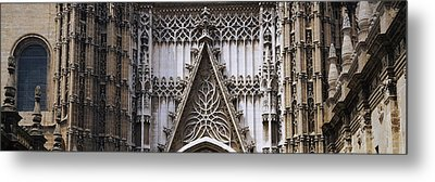 Close-up Of A Cathedral, Seville Metal Print by Panoramic Images