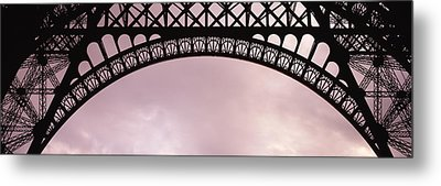 Close Up Of Eiffel Tower, Paris, France Metal Print
