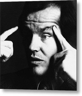 Close Up Of Jack Nicholson Metal Print by Jack Robinson