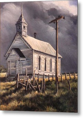 Closed On Sundays Metal Print by Donna Tucker