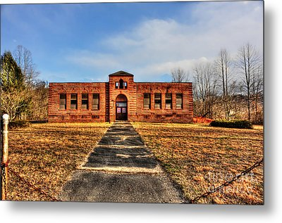 Closed School In Small Town Wv Metal Print by Dan Friend