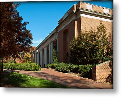 Closeup Of E H Little Library - Davidson College Metal Print by Paulette B Wright
