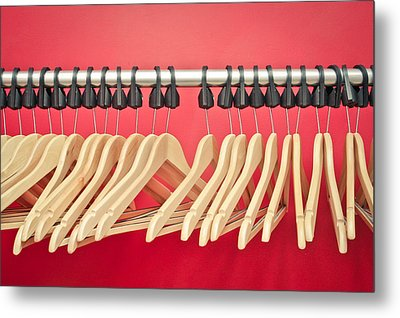 Clothes Hangers Metal Print by Tom Gowanlock