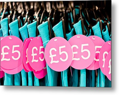 Clothes Sale Metal Print by Tom Gowanlock