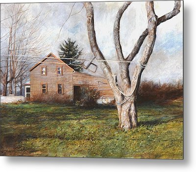 Metal Print featuring the painting Clothesline by Wayne Daniels