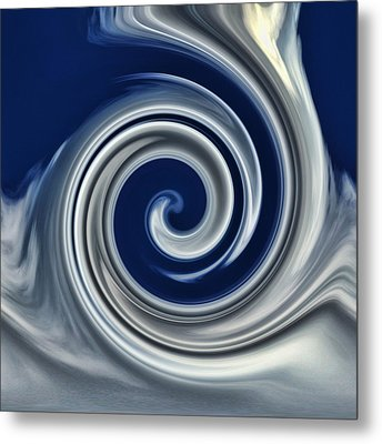Cloud Abstract Metal Print by Ron Roberts