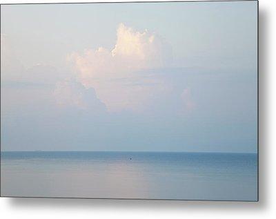 Cloud And Seascape, Rhodes, Greece Metal Print by Peter Adams
