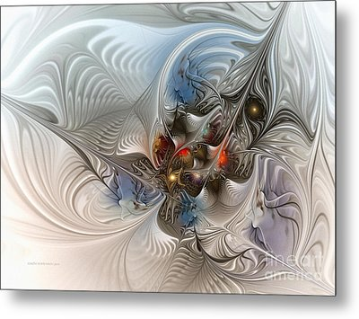 Cloud Cuckoo Land-fractal Art Metal Print by Karin Kuhlmann