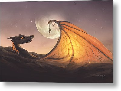 Cloud Dragon Metal Print by Cassiopeia Art