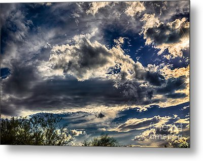 Metal Print featuring the photograph Cloud Drama by Mark Myhaver