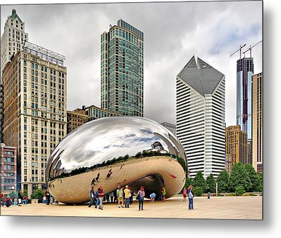 Metal Print featuring the photograph Cloud Gate In Chicago by Mitchell R Grosky