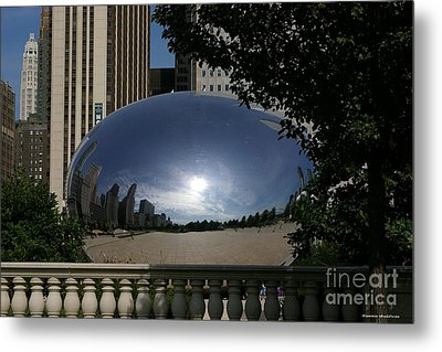 Cloud Gate Metal Print by Tannis  Baldwin