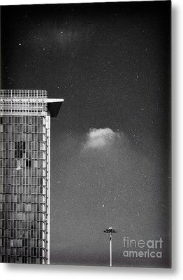 Metal Print featuring the photograph Cloud Lamp Building by Silvia Ganora