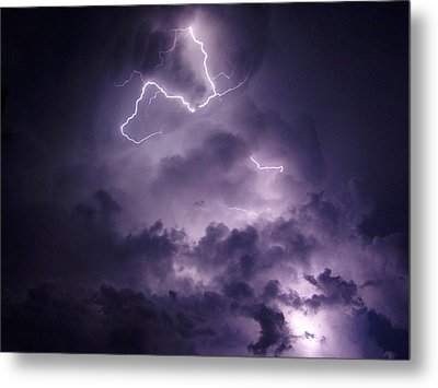 Metal Print featuring the photograph Cloud Lightning by James Peterson