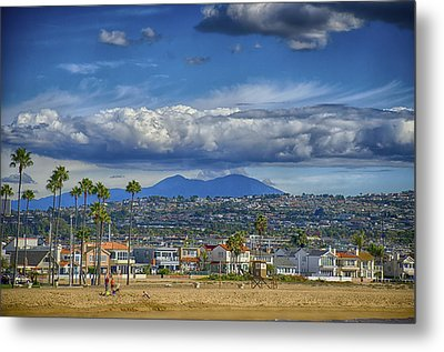 Cloud Over Saddleback Mountain Metal Print by Joseph Hollingsworth