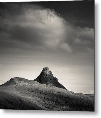 Clouds Over Stac Pollaidh Metal Print by Dave Bowman
