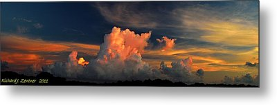 Metal Print featuring the photograph Cloud Panorama by Richard Zentner