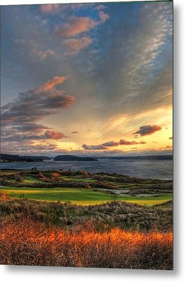 Cloud Serenity - Chambers Bay Golf Course Metal Print by Chris Anderson