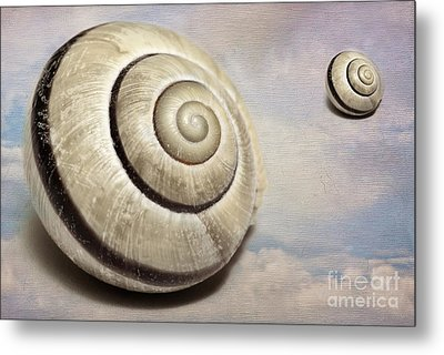 Cloud Shells Metal Print