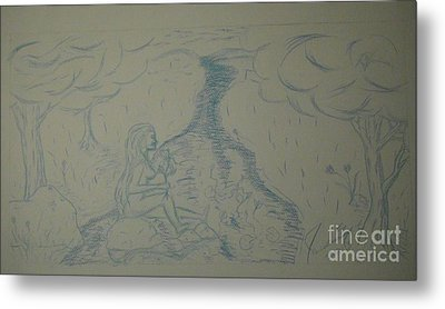 Cloud Tree Pond Metal Print by James Eye