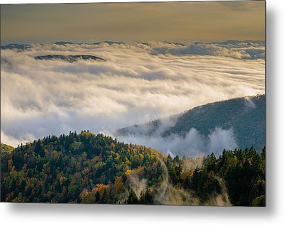 Cloud Valley Metal Print by Serge Skiba