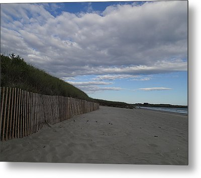 Metal Print featuring the photograph Clouded Beach by Robert Nickologianis