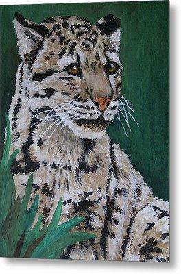 Clouded Leopard Metal Print by Margaret Saheed