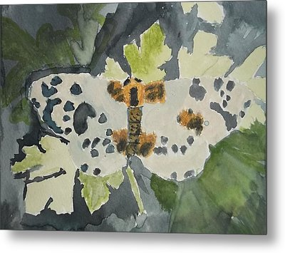 Clouded Magpie Watercolor On Paper Metal Print by William Sahir House