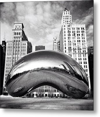Chicago Bean Cloud Gate Photo Metal Print
