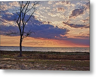 Clouding Up On Oyster Bay Metal Print
