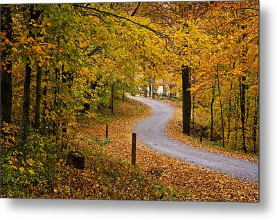 Cloudland Road Metal Print by Dominique Dubied