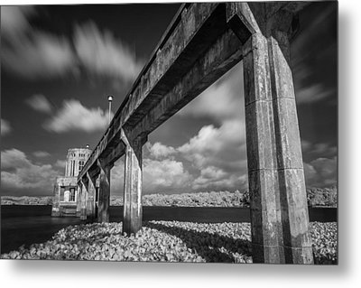 Clouds Above The Bridge Metal Print